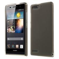 Matné gélové puzdro na Huawei Ascned G6 - sivé - 1/6