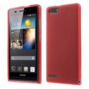 Matné gélové puzdro na Huawei Ascned G6 - červené - 1