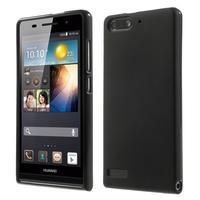 Matné gélové puzdro na Huawei Ascned G6 - čierné - 1/6