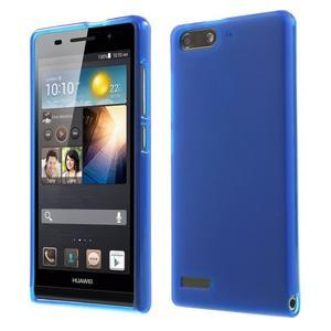 Matné gélové puzdro na Huawei Ascned G6 - modré - 1