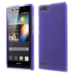 Matné gélové puzdro na Huawei Ascned G6 - fialové - 1