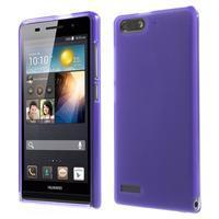 Matné gélové puzdro na Huawei Ascned G6 - fialové - 1/6