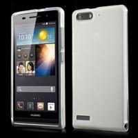Matné gélové puzdro na Huawei Ascned G6 - biele - 1/6