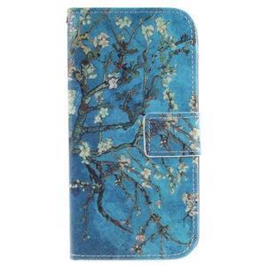 Peňaženkové puzdro pre mobil LG K10 - kvitnúce strom - 1