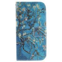 Peňaženkové puzdro pre mobil LG K10 - kvitnúce strom - 1/7