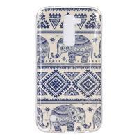 Fony gelový obal na mobil LG K10 - sloni - 1/4