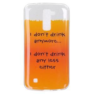 Fony gelový obal na mobil LG K10 - drink - 1