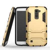 Odolný kryt pre mobil LG K10 - zlatý - 1/2