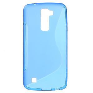 S-line gélový obal pre mobil LG K10 - modrý - 1