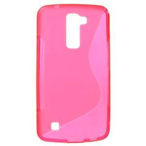 S-line gélový obal pre mobil LG K10 - rose - 1