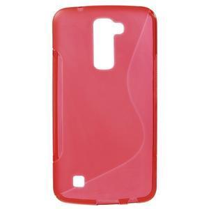 S-line gelový obal na mobil LG K10 - červený - 1