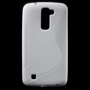 S-line gelový obal na mobil LG K10 - bílý - 1