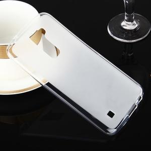 Stter matný gélový obal pre mobil LG K10 - biely - 1