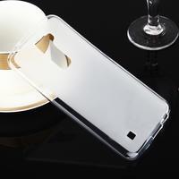 Stter matný gélový obal pre mobil LG K10 - biely - 1/6