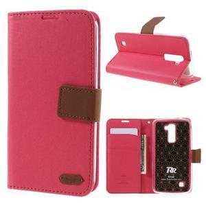Style PU kožené puzdro pro LG K10 - rose - 1