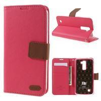 Style PU kožené puzdro pro LG K10 - rose - 1/7