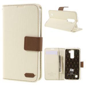 Style PU kožené puzdro pro LG K10 - biele - 1