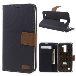 Style PU kožené puzdro pro LG K10 - čierne - 1
