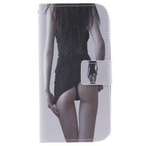 Peňaženkové puzdro pre mobil LG K10 - sexy dívka - 1