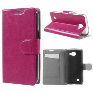 Horse PU kožené puzdro pre mobil LG K4 - rose - 1