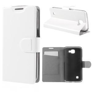 Horse PU kožené puzdro pre mobil LG K4 - biele - 1