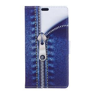 Style peňaženkové puzdro pre LG K4 - jeans - 1