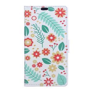 Style peňaženkové puzdro pre LG K4 - kvetinová koláž - 1