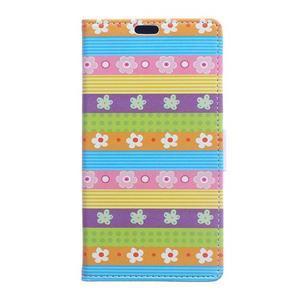 Style peňaženkové puzdro pre LG K4 - farebné kvetiny - 1