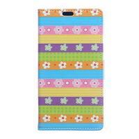 Style peňaženkové puzdro pre LG K4 - farebné kvetiny - 1/5
