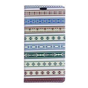 Style peňaženkové puzdro pre LG K4 - ethnic - 1