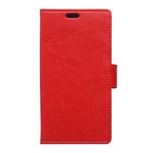 Leat peňaženkové puzdro pre LG K4 - červené - 1