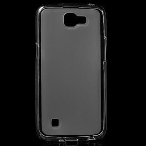 Matný gélový obal pre mobil LG K4 - biele - 1