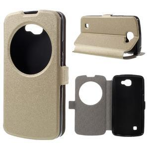 Trend puzdro s okienkom na mobil LG K4 - zlaté - 1
