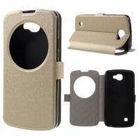 Trend puzdro s okienkom na mobil LG K4 - zlaté - 1/7