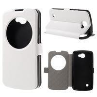 Trend puzdro s okienkom na mobil LG K4 - biele - 1/7