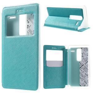 Cross peňaženkové puzdro s okienkom na LG Zero - modré - 1