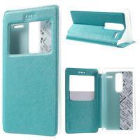 Cross peňaženkové puzdro s okienkom na LG Zero - modré - 1/5