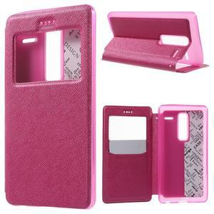Cross peňaženkové puzdro s okienkom na LG Zero - rose - 1