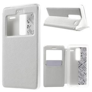 Cross peňaženkové puzdro s okienkom na LG Zero - biele - 1