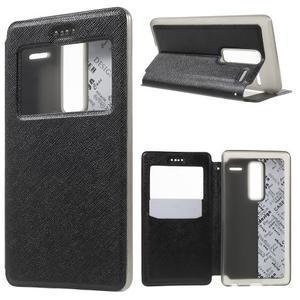 Cross peňaženkové puzdro s okienkom na LG Zero - čierne - 1