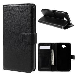 Funny peňaženkové puzdro na mobil Microsoft Lumia 650 - čierné - 1