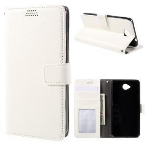 Funny peňaženkové puzdro pre mobil Microsoft Lumia 650 - biele - 1