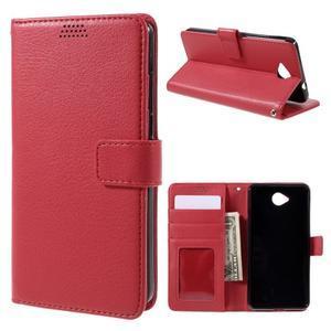 Funny peňaženkové puzdro na mobil Microsoft Lumia 650 - červené - 1