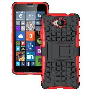 Outdoor odolný obal pre mobil Microsoft Lumia 650 - červený - 1