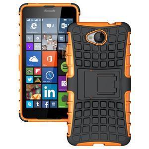 Outdoor odolný obal pre mobil Microsoft Lumia 650 - oranžový - 1