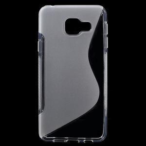 S-line gélové obal pre mobil Samsung Galaxy A3 (2016) - transparentný - 1
