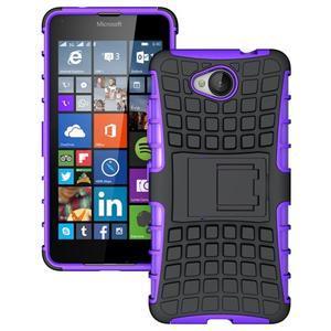 Outdoor odolný obal pre mobil Microsoft Lumia 650 - fialový - 1