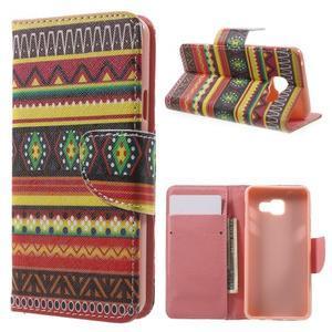 Peňaženkové puzdro na mobil Samsung Galaxy A3 (2016) - tribal - 1