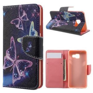 Peňaženkové puzdro na mobil Samsung Galaxy A3 (2016) - kouzelní motýlci - 1