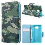 Peňaženkové puzdro pre mobil Samsung Galaxy A3 (2016) - kamufláž - 1/7